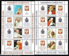 VATICANO 2004 La Polonia e l'Europa fogliettI MNH**