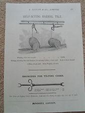 SELF-ACTING BARREL TILT Vintage Image Copy Print Lumley+Co Minories London #271