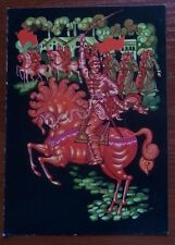 1989 SOVIET POSTCARD October revolution soldiers rider on red horse # com 370a