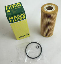MANN-FILTER MANN ÖLFILTER HU726/2X VW AUDI SEAT SKODA OILFILTER MADE IN GERMANY