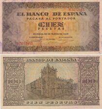 España - Billetes Estado Español- Año: 1938 - número 00485 - 100 pta. 1938 EBC