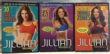 3 Jillian Michaels workout fitness DVD lot No More Trouble Zones 30 day shred