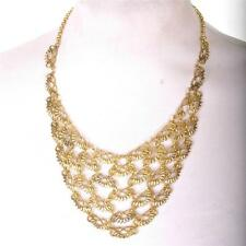 VINTAGE GOLD CHAIN MAIL Statement Necklace NEW BNWT CHAINMAILLE