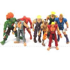8pcs Boys 4'' Toys JAZWARES STREET FIGHTER Series ACTION FIGURE Collection FW224