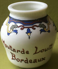 POT A MOUTARDE LOUIT BORDEAUX FAÏENCE