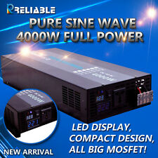 Pure Sine Wave Inverter 4000W Power Inverter 12/24V to 120V/220V DIGITAL DISPLAY