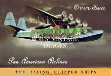 Pan Am Brazilian Clipper Sikorsky S-42 Airplane  Flying Boat Ad poster 8x11