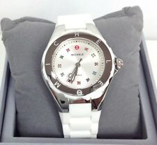 BRAND NEW MICHELE MWW12P000001 TAHITIAN JELLY BEAN SILVER & WHITE WOMEN'S WATCH