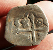 SPANISH COLONIAL MEXICO SILVER 1 REAL PIRATE COB 3.4 GRAMS
