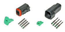 Deutsch DT 4 Pin Black Connector Kit 14 GA Solid Contacts