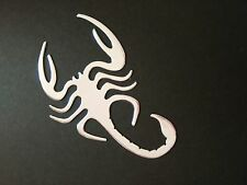 X1 3D Silver Chrome Scorpion Car Sticker Emblem Decal Badge Fun Art UK SELLER