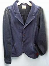 SCOTCH & SODA BLUE DENIM TWILL W/KNIT SLEEVES & LINING BLAZER JACKET S