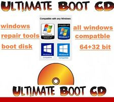 ULTIMATE BOOT DISK  DIAGNOSE PC LAPTOP WINDOWS 7,8, VISTA XP