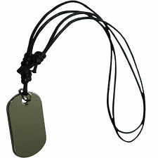 Army Military Dog Tag Pendant Chain Necklace Choker Mens Mans Womens Girls Boys