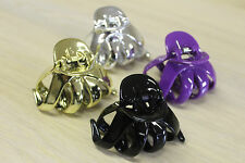 New Medium Hair Claw Clip 4 PACK Octopus Design Plastic Free Fast Shipping