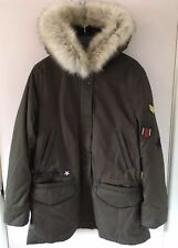 Zara Khaki Army Jacket With Hood Parka Faux Fur  BNWT L Rrp £69.99