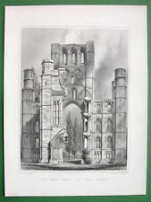 SCOTLAND Kelso Abbey West Front !! Antique Print Engraving