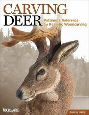 Carving Deer Book~Patterns & Tips for Realistic Woodcarving~Other Animals~NEW