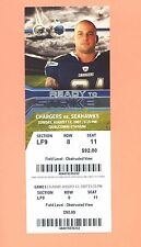 Seattle Seahawks at San Diego Chargers 2007 ticket stub Eric Weddle NFL DEBUT D