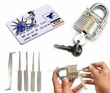 NEW credit card + padlock tool lock pick unlock lockpicking locksmith crochetage