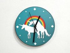 Unicorns, Rainbow and Love - Wall Clock