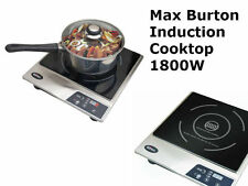 Max Burton 6200 Deluxe Induction COOKTOP, 1800 Watt Portable Electric STOVE