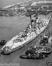 USS Missouri BB-63 Docked in Norfolk 1951 8 x 10 Photograph