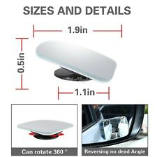 Adjustable HD Blind Spot Mirror Stick Wide Angle Car  Truck Van Side View Convex