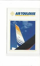 Air Toulouse airlines issued boeing 737-200  cont/l postcard