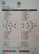 Line-ups UEFA EURO 2016 Portogallo-Galles match 49