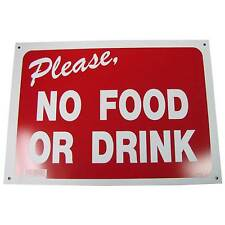 No Food Or Drink Business Information Policy Sign 10 inch x 14 inch