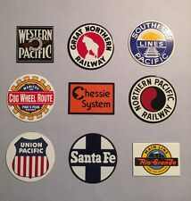 LARGE LOT OF 9 PORCELAIN STEEL RAILROAD SIGNS IN MINT CONDITION