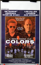 Dennis Hopper : Sean Penn : R Duvall : Colors : POSTER
