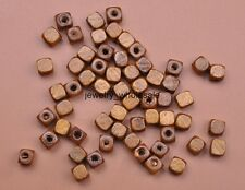 100pcs Light coffee Charms square Wood Spacer Beads Jewelry Making 6x6mm