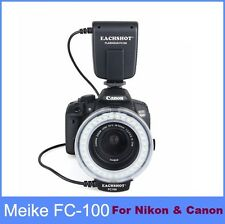Meike FC100 Flash Light Macro Ring For Canon & Nikon D7100 D7000 D5200 D5100 ...