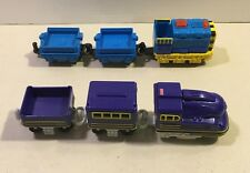Fisher Price Geotrax Push Trains Brutus & Victor Ox & Jed Lights Sounds Engine