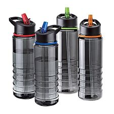 4X Flip Straw Tritan Drinks Sport Hydration Water Bottle Cycling Hiking BPA Free