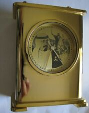 Titoni Desk Clock Saudi Arabia Special Gift King Abdullah Yellow Gold Plated