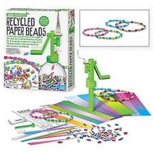Recycled Paper Beads Kit rolls strips of paper make necklaces, bracelets