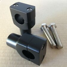 "1"" Black Motorcycle Handlebar Risers for Harley Davidson Sportster Softail US"