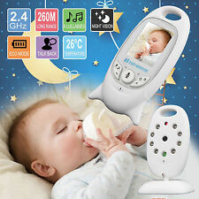 2.4GHz WIRELESS DIGITAL VIDEO BABY MONITOR 2'' COLOR LCD AUDIO TALK NIGHT VISION