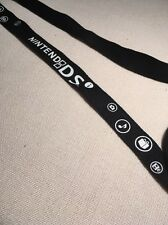 "Lanyard ""NINTENDO DS"" Strap Badge ID Holder. Black And White."