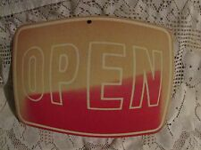 VINTAGE CARDBOARD SIGN OPEN SIGN 10 X 10 WALL HANGING DECOR