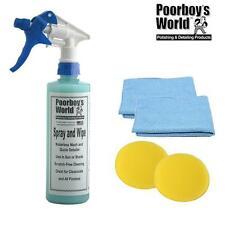Poorboys Spray & Wipe Waterless Car Wash & Detailer 16oz + 2 Free Cloths & Pads