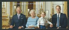 La grande-bretagne 2016 hm the queen's 90th anniversaire miniature feuille non montés mint