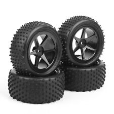 4Pcs KF Rubber Front&Rear Tires Wheel Rim For RC 1:10 Buggy Off-Road Car B04