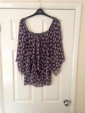 Ladies  Purple Lightweight Blouse From H&M Size 44 (L)
