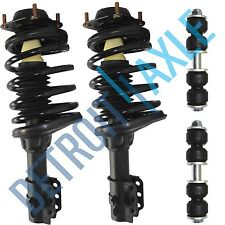 4PC Kit: Pair 2 NEW Complete Front Strut + 2 NEW Front Sway Bar Link Ford No ABS