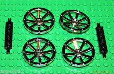 LEGO 4x Silver Chrome Wagon Wheels with Wheels Holder NEW!!!