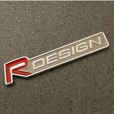 R DESIGN Badge Emblem Decal Logo Sticker Rear Boot Trunk Side Wing Red Car 111r